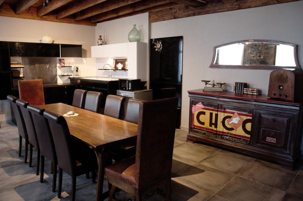 Salle à manger avec cuisine loft