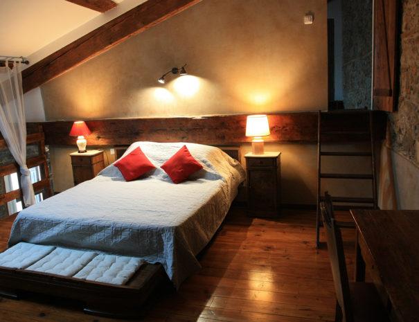 Chambre loft avec bureau