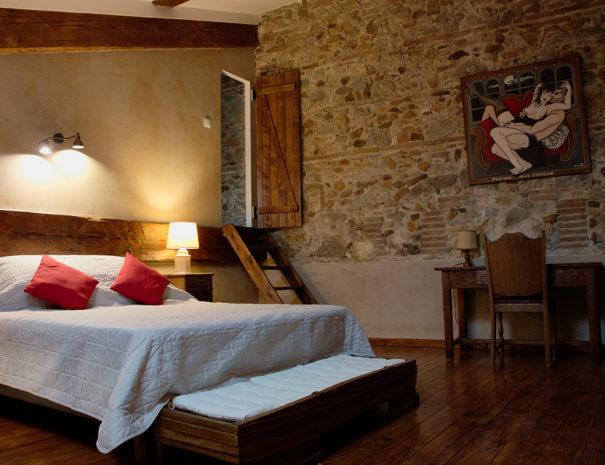 Chambre lit king size loft