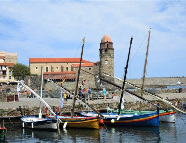 Collioure, barques catalanes